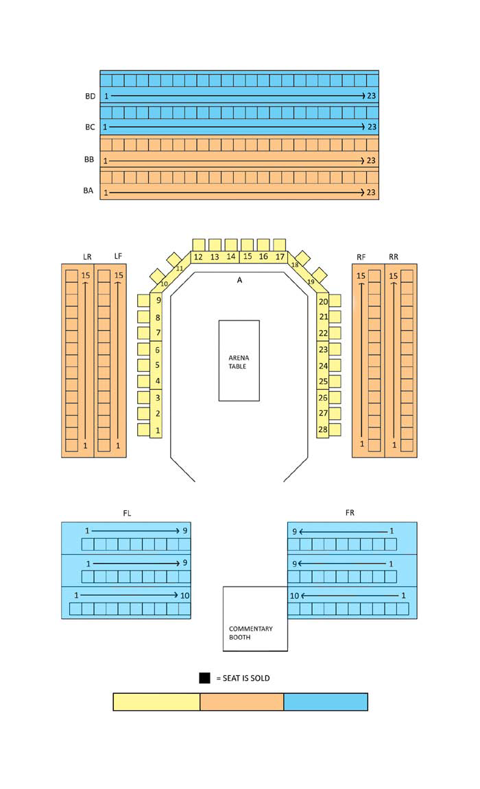 The 2021 International Open Seating Chart